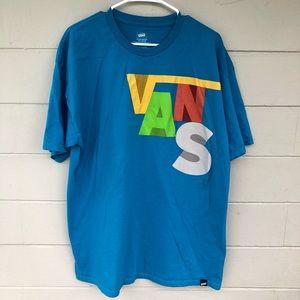 Vans Bright Aqua Blue Tee Shirt Men's XL